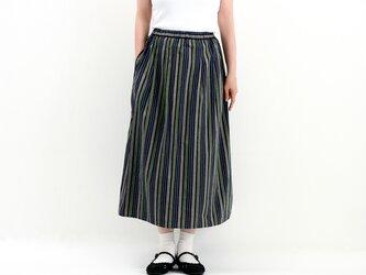タックギャザースカート(ストライプ)#320の画像