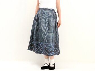 タックギャザースカート(プリント)#321の画像