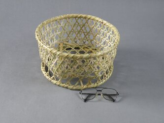 椀籠 円形(小) 根曲がり竹 生活の道具の画像