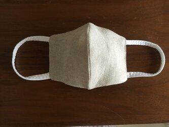 夏用立体布マスク 女性用オートミールの画像