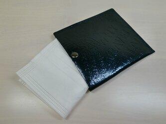 ちょっと贅沢に♪本革製・一枚革の不織布マスクケース・0109の画像