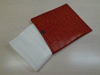 ちょっと贅沢に♪本革製・一枚革の不織布マスクケース・0107の画像