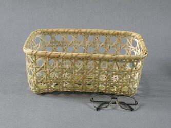 生活の道具 八つ目編みバスケット 千島笹 根曲り竹の画像