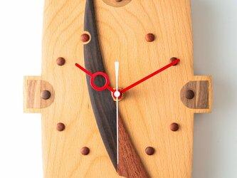 木の時計:長方形A-3-2の画像