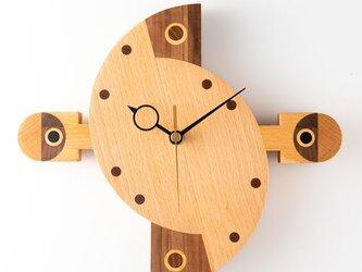 木の時計:楕円B3-2の画像