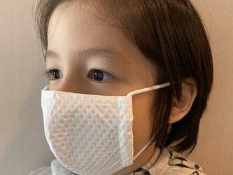 「子供夏仕様200回洗える抗菌マスク」丁寧にこだわり【抗菌・防臭・速乾・洗濯可】特殊素材+銀イオンの画像