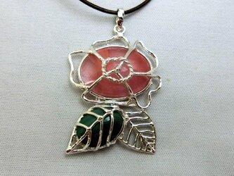 バレリーナ薔薇ペンダントの画像