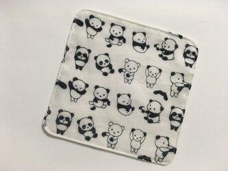 ミニガーゼハンカチ お着替えパンダの画像