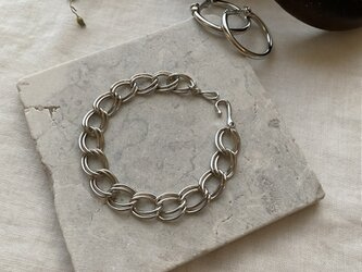 Metal Chain Bracelet:Color/Silverの画像