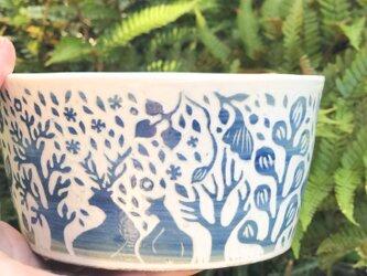 Kakiotoshi Medium Bowl — 寄り添う夫婦鹿の画像