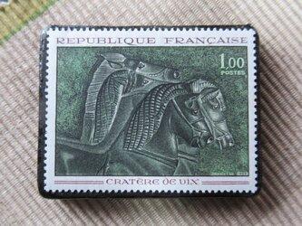 フランス 美術切手ブローチ6211の画像