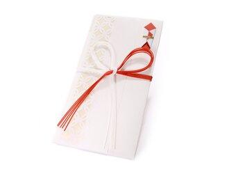 【ご祝儀袋】 七宝(花結び)・白の画像