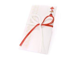 【ご祝儀袋】 麻の葉(花結び)・白の画像