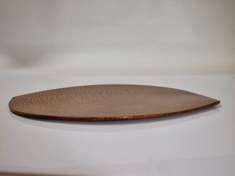栃杢の皿の画像