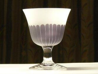 ハルジオンの食前酒グラス 無色×紫 (1個)の画像