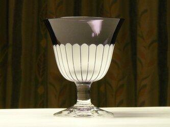 ヒメジョオンの食前酒グラス 無色×紫 (1個)の画像