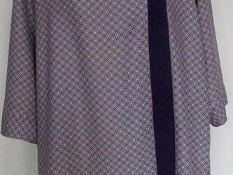 4890 小紋の着物で作ったプルオーバー #送料無料の画像