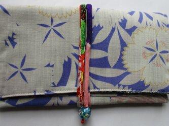 4892 花柄の長襦袢で作った和風財布・ポーチ #送料無料の画像