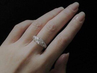 仄かに光る鉱石ring silver925リングの画像