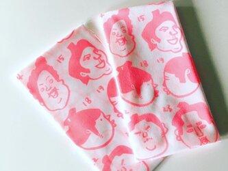 りきし手ぬぐいピンクの画像