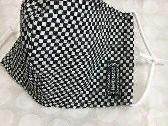 黒✖️白✳︎大人のマスクの画像