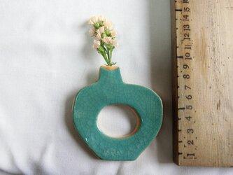 flowerbass【壁飾りs】(貫入みずいろ)の画像