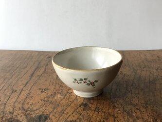 白化粧色絵 ミニ茶碗 サンキライの画像