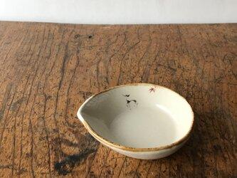 色絵 リーフ豆鉢 シカの画像