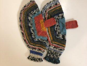 №336 手編みミトン ランデブーの画像