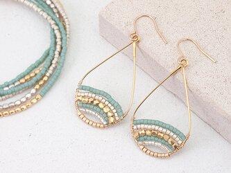 Mix Beads Drop Earringsの画像