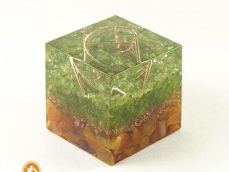 [受注製作]キューブオルゴナイト DOUBLE growth cube100900003の画像