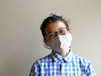 【size S】めがねが曇らない リネンのマスク【グレージュ】Pure linen face maskの画像