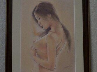パステル裸婦原画 微笑みの画像