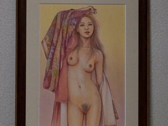 パステル裸婦原画 朧月夜の君の画像