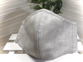 接触冷感 立体夏マスク グレー杢 ノーズワイヤー 大人用の画像