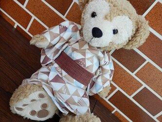 ダッフィー Sタイプ用 ブラウン系浴衣と帯の画像