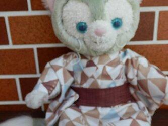 ジェラトーニ用 ブラウン系浴衣と帯の画像