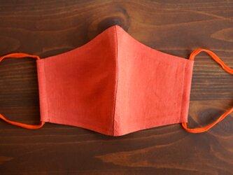 【バーミリオン/立体マスク】 数量限定! リネンマスク リネン100% 抗菌 防臭 速乾【ネコポス可】/ z021g-vmi2の画像