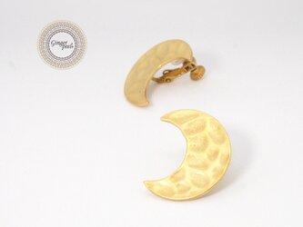 イヤリング[Crescent Moon/古代金]の画像
