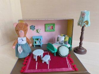 ニーナのテディベアとドールハウスセット①の画像