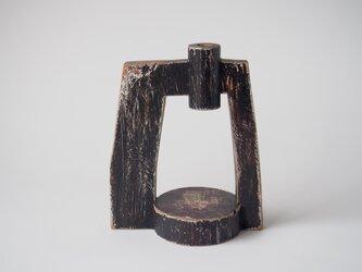 門番(木のオブジェ・一輪挿し)の画像