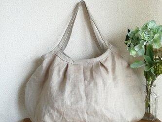 Linen・リネングラニーBAG(Wタック)beigeの画像