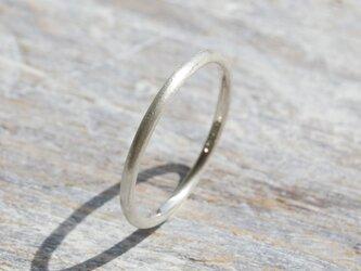 つや消し シルバープレーンリング 1.5mm幅 マット シルバー950|SILVER RING 指輪 シンプル|173の画像