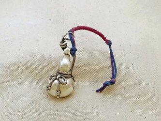 銀製の鈴 『 酒瓢箪 』 (シルバー925) 根付・バッグチャームの画像