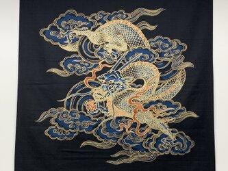 風呂敷 大判 ふろしき 包み 龍 綿100% 118cm幅 贈答品 木綿風呂敷の画像