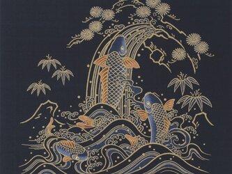 風呂敷 大判 ふろしき 包み 鯉 綿100% 118cm幅 贈答品 木綿風呂敷の画像