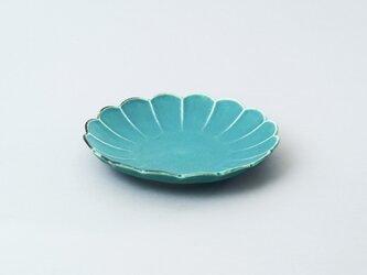 輪花小皿 15.5cmプレート (ターコイズブルー/トルコ青)の画像
