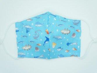 【ダブルガーゼの立体布マスク】《子ども用》海の生き物の画像