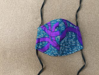 e157-アフリカ布マスクの画像