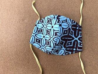 e159-アフリカ布マスクの画像